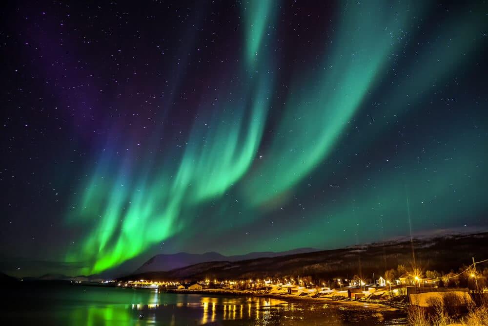 auroras boreais na noruega