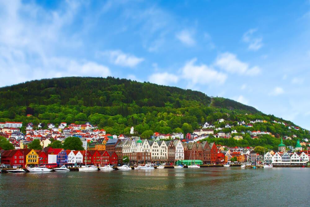 vistas de uma aldeia na noruega