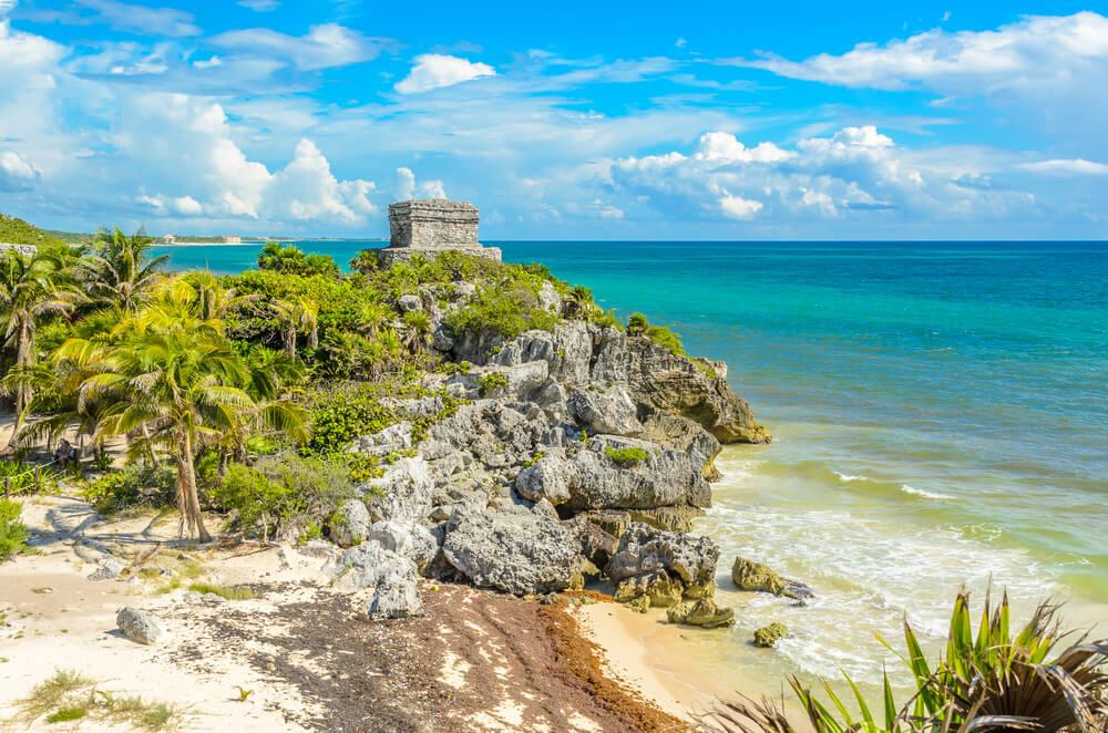 ruinas maias de tulum no iucatao