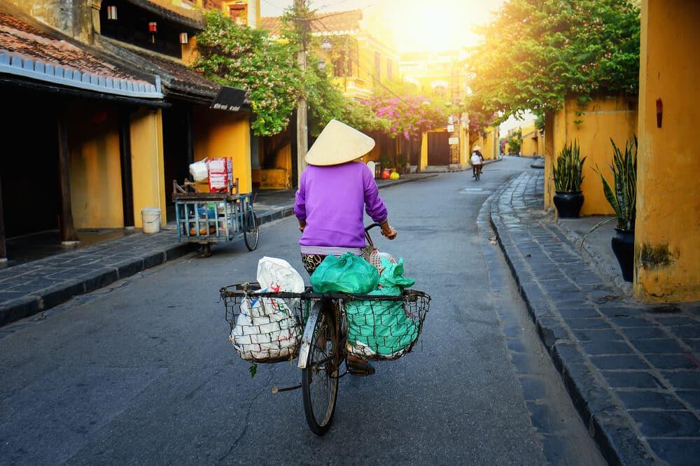 bicicleta na cidade historica de hoi an