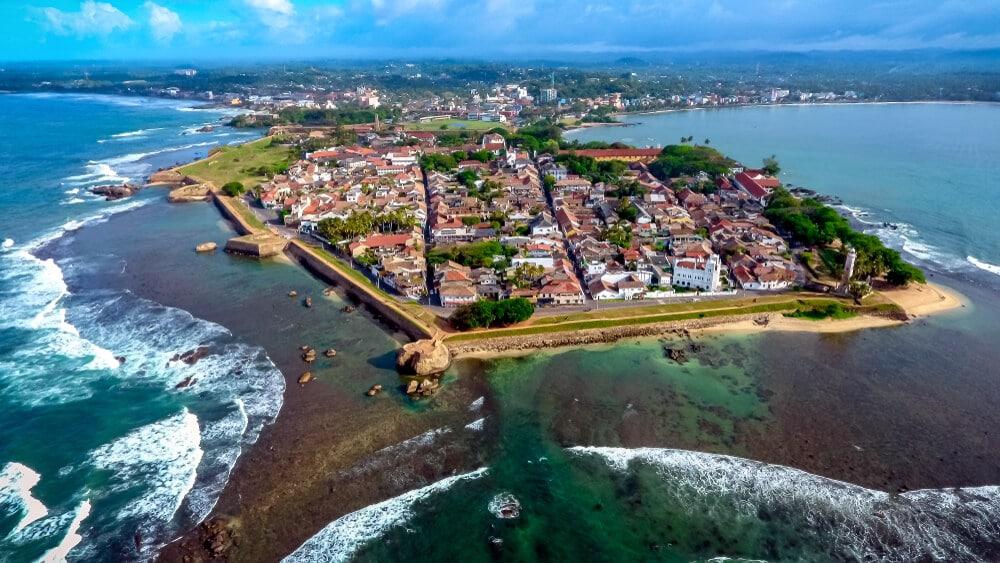 vista aérea da cidade de galle
