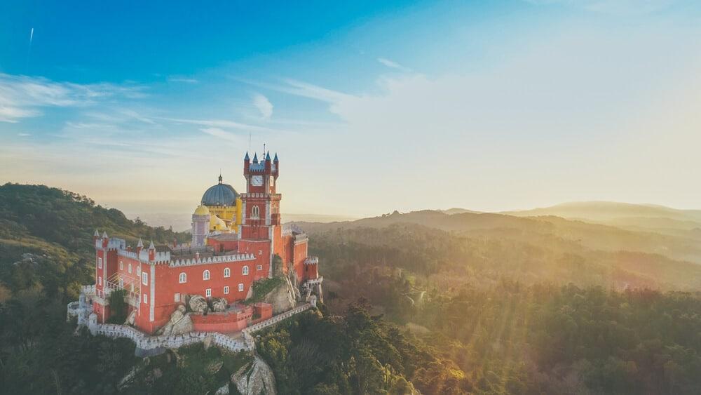 vista aerea do palacio da pena