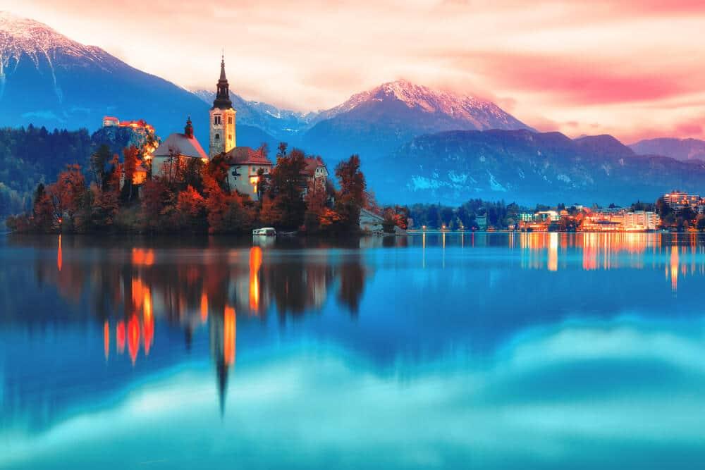 castelo no lago bled
