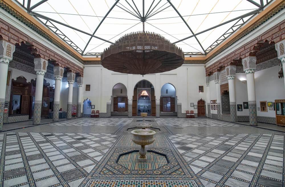patio interior do museu de marraquexe