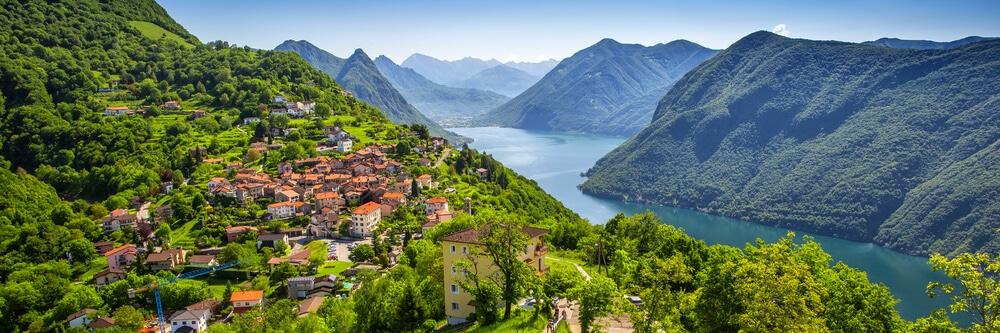 panoramica vila e lago de lugano