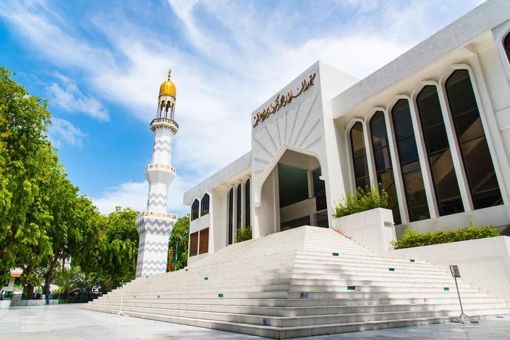 escadarias da mesquita de male