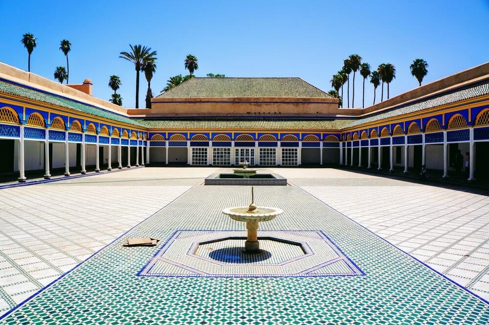 fonte e patio central do palacio