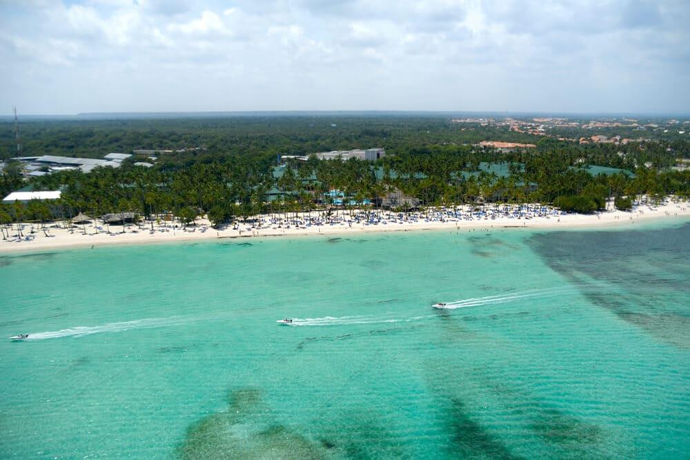 panoramica de praia em punta cana