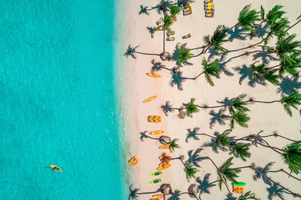 vista aerea de praia bavaro