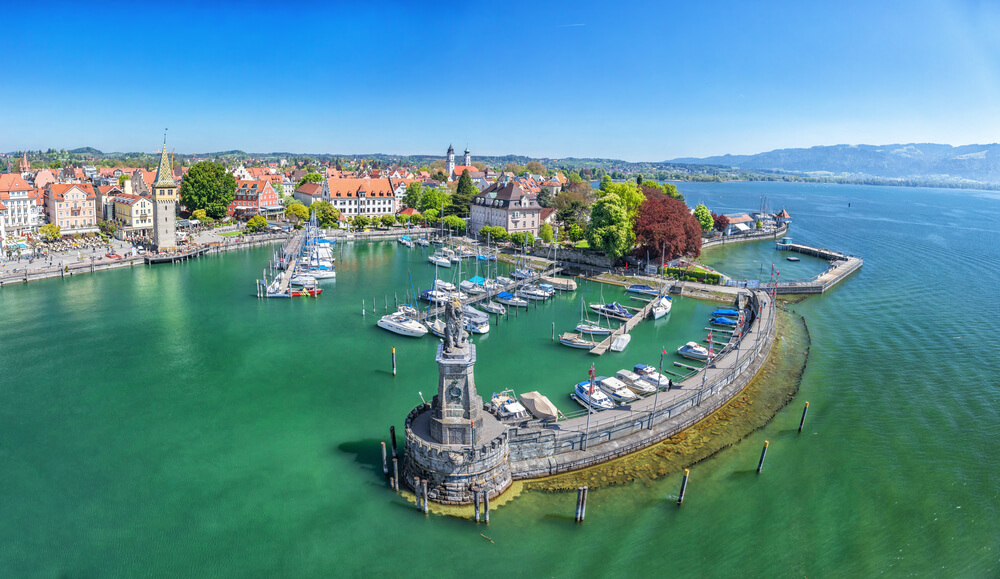 vistas do porto de lindau