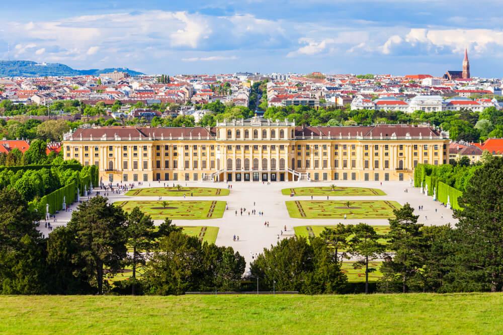 vista aérea do palacio schonbrunn