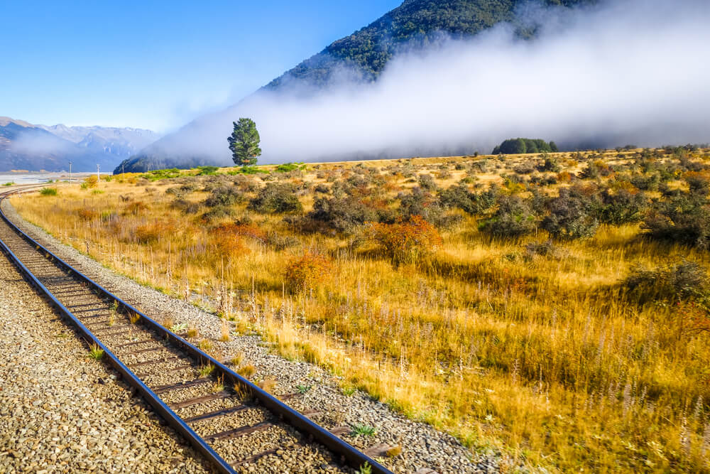 comboio tranzalpine na nova zelandia
