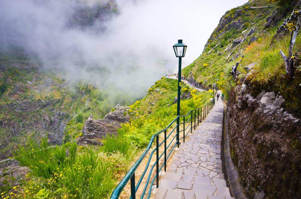 nevoeiro numa estrada perto do curral das freiras