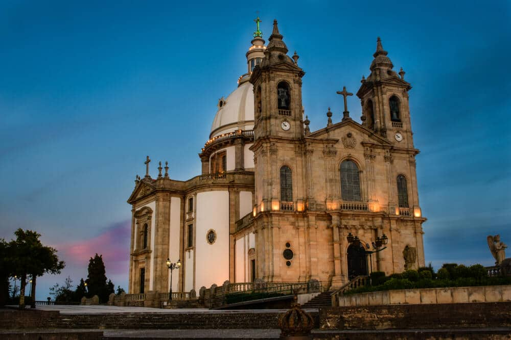 basilica do sameiro ao final da tarde