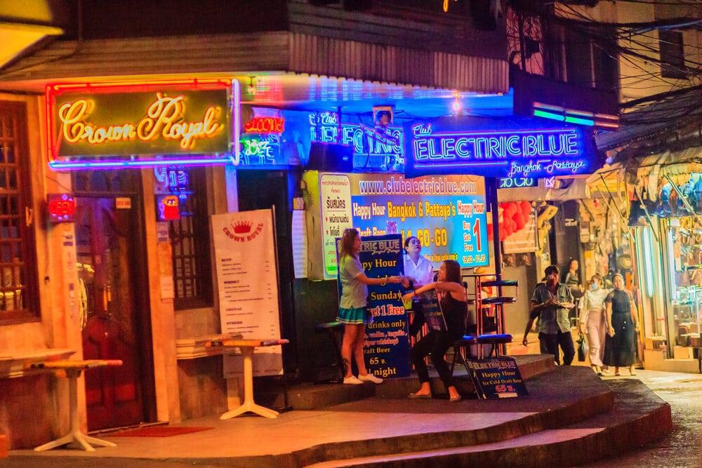 bairro de patpong à noite
