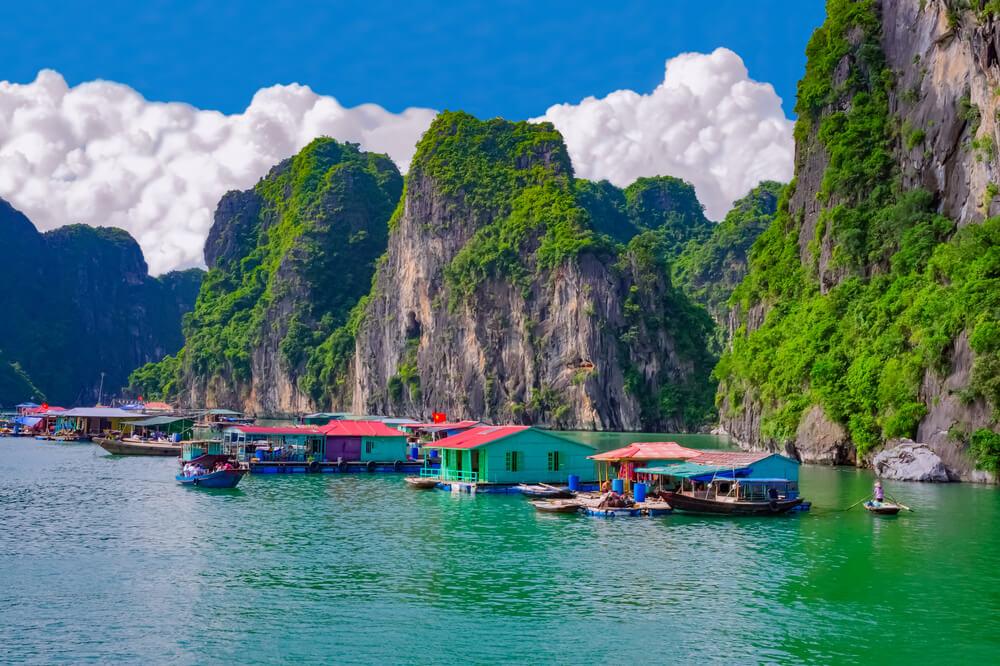 aldeia piscatoria da baia de halong