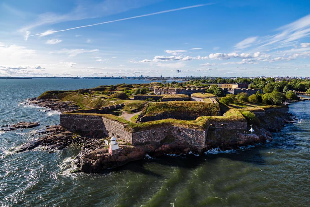vista aerea da fortaleza e do mar