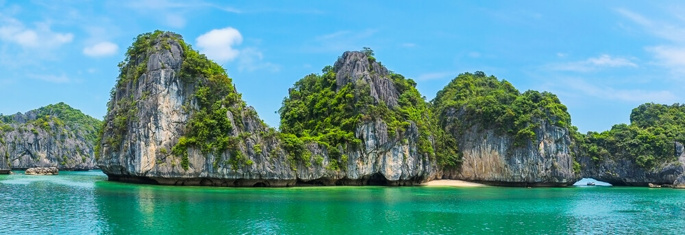 panoramica da baia de halong no vietname