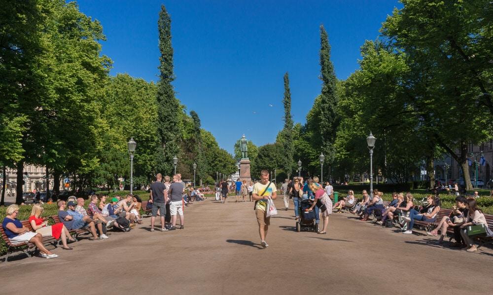 vista geral do parque esplanade