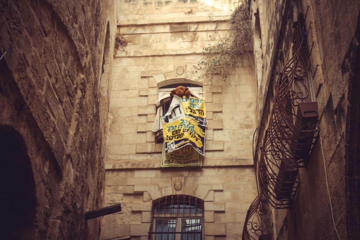 publicidade nas ruas de jerusalem