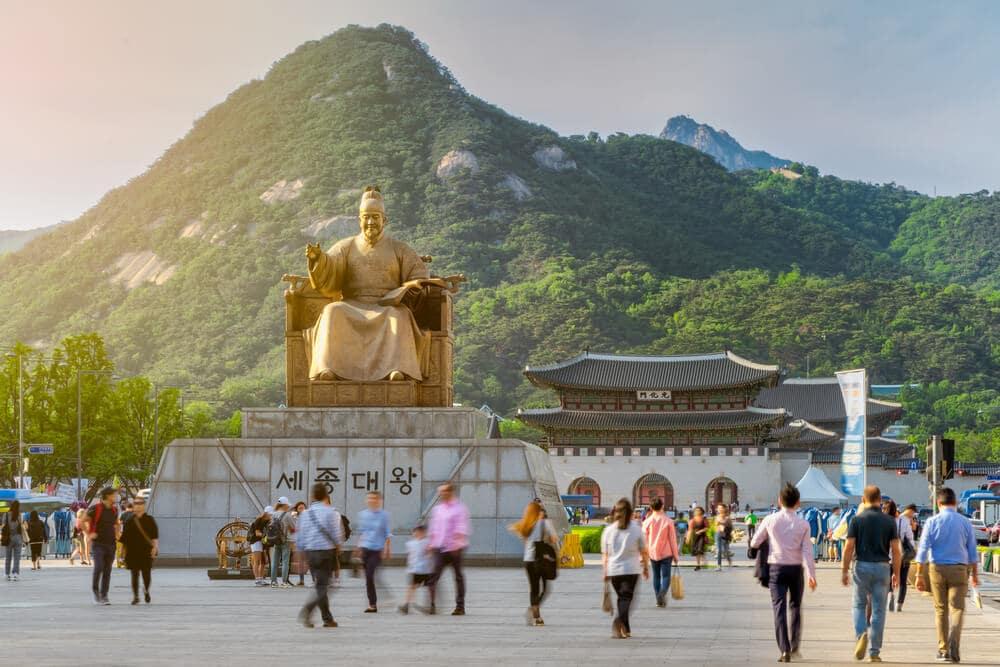estatua do rei sejong
