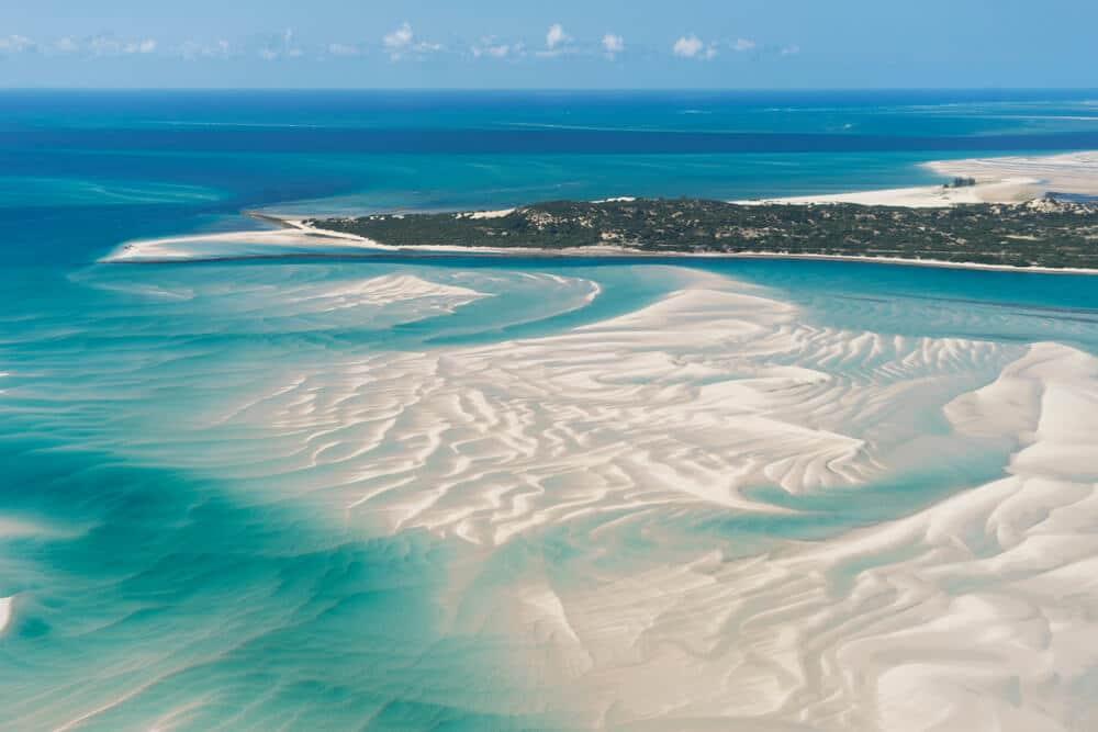 vista aerea da ilha de vilankulo