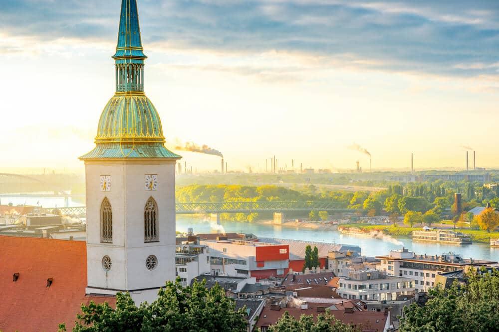 panoramica da cidade de bratislava