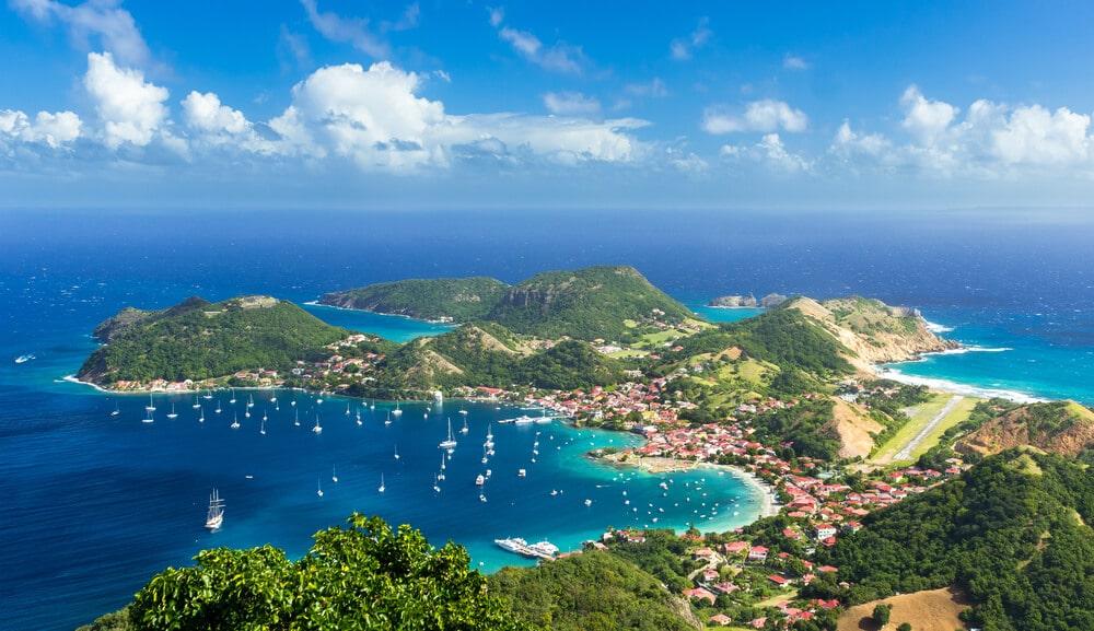 vista aerea das ilhas de les saintes em guadaloupe
