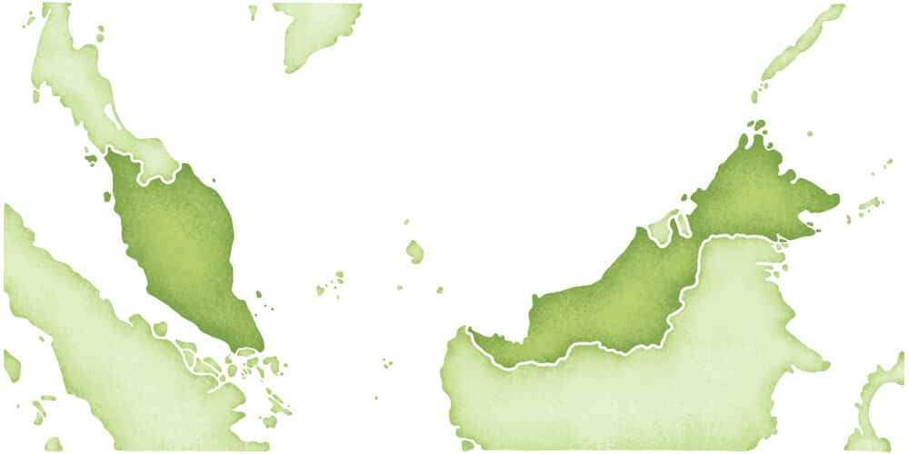 mapa do territorio da malasia
