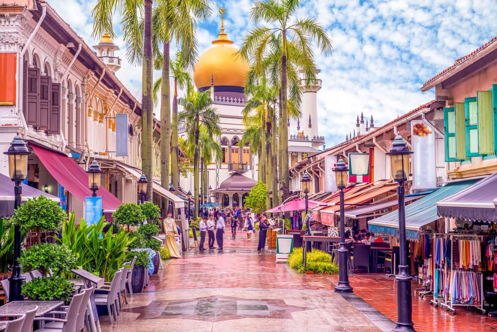 rua de little india em singapura